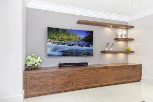 American Black Walnut AV Cabinet - Luke Jones Furniture