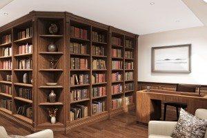 Stained Oak Study CAD - Luke Jones Furniture