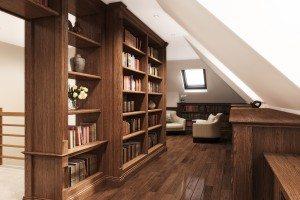 Stained Oak Library CAD - Luke Jones Furniture