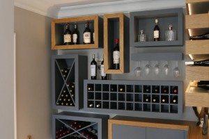 Bespoke Painted Wine Room - Luke Jones Furniture