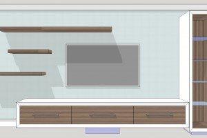 Initial AV Cabinet Render - Luke Jones Furniture