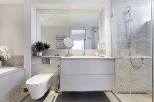 High-gloss floating vanity unit - Luke jones Furniture