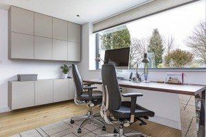 Modern study storage - Luke Jones Furniture